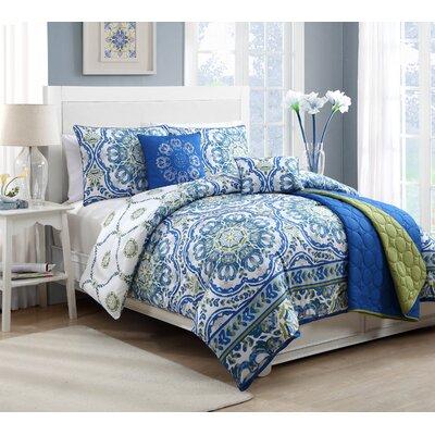 Talila 5 Piece Reversible Comforter Set by Geneva Home