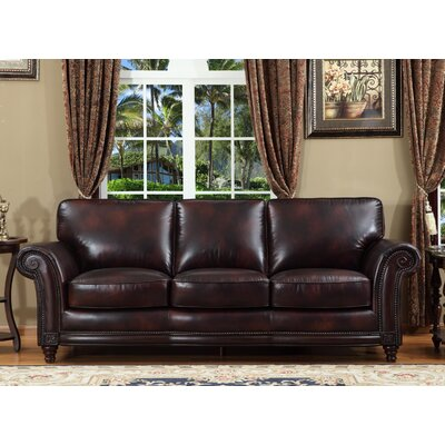 Century Leather Sofa by Lazzaro Leather