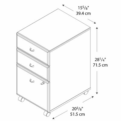 Bush Business Furniture Series A 3-Drawer Vertical File