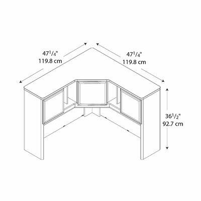 Bush Business Furniture Series A Corner Hutch