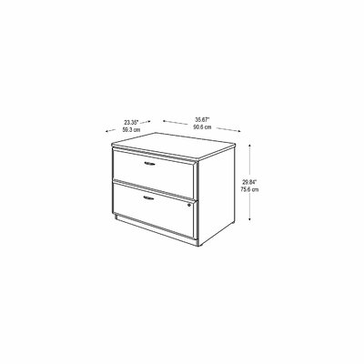 Bush Business Furniture Series A 2 Drawer Lateral File