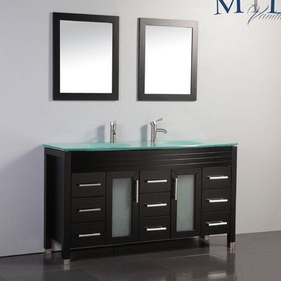 Figi 63 Double Sink Bathroom Vanity Set With Mirrors Wayfair