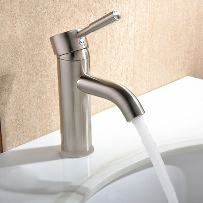 Single Handle Single Hole Faucet with Deck Plate Product Photo