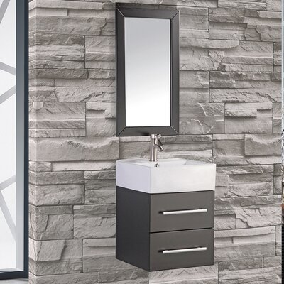 Mtdvanities nepal 18 single sink wall mounted bathroom for Bathroom designs in nepal