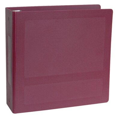 Silver Base Antimicrobial Side Open 5 Ring Molded Binder by Omnimed
