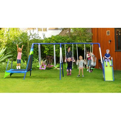 Mountain View Metal Trampoline/Slide and Swing Set Product Photo