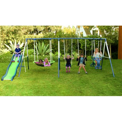 Rosemead Metal Slide and Swing Set Product Photo