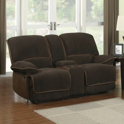 Jackson Reclining Loveseat with Console by Sunset Trading