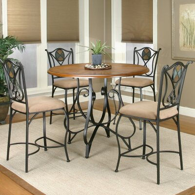 Vail 5 Piece Counter Height Dining Set by Sunset Trading