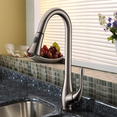 Single Handle Single Hole Kitchen Faucet with Pull-Down Product Photo