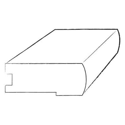 """Armstrong 0.5"""" x 2.75"""" x 78"""" Birch Stair Nose in Gunstock"""