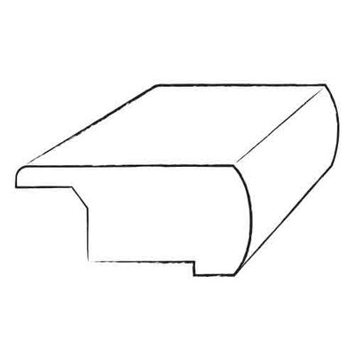 """Armstrong 0.81"""" x 3.13"""" x 78"""" Walnut Overlap Stair Nose in Smoke Gray"""