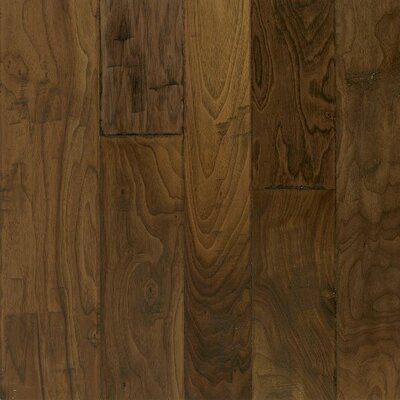 Artesian Random Width Engineered Walnut Hardwood Flooring in Whisper Brown by Armstrong