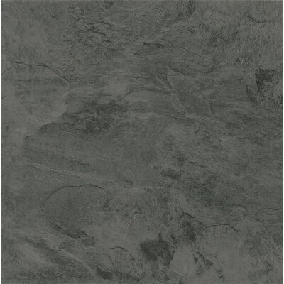 "Armstrong Alterna Mesa Stone 16"" x 16"" Luxury Vinyl Tile in Charcoal"