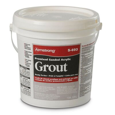 Armstrong Premixed Sanded Acrylic Grout in Sandalwood - 1 Gallon