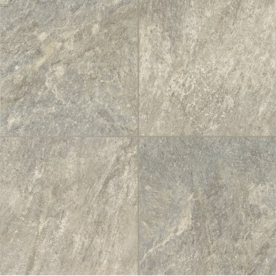 """Armstrong Alterna Reserve Cuarzo 16"""" x 16"""" x 4.06mm Luxury Vinyl Tile in Pearl Gray"""