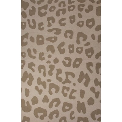 National Geographic Home Collection Wool Tan Leopard Flat Weave Area Rug by Jaipur Rugs