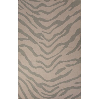 National Geographic Home Wool Flat Weave Gray Area Rug by Jaipur Rugs