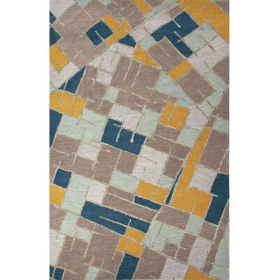 National Geographic Home Wool Hand Tufted Blue Area Rug by Jaipur Rugs