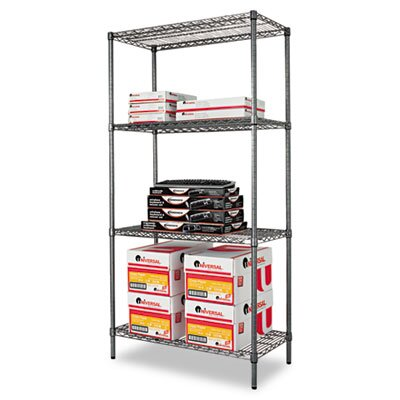 "Alera® Industrial Wire 72"" H 4 Shelf Shelving Unit Starter"