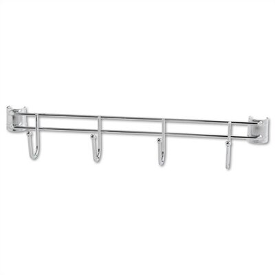"""Alera® 18"""" Hook Bars for Wire Shelving in Silver"""
