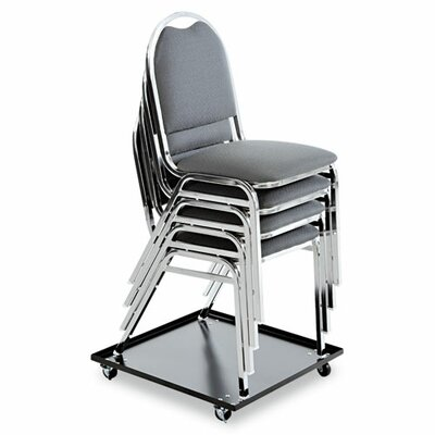 "Alera® 3.5"" x 23.5"" x 23.5"" Stacking Chair Dolly"