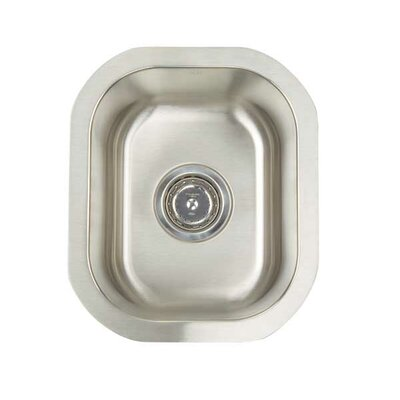 "Premium Series 12.5"" x 14.75"" Undermount Single Bowl Bar Sink Product Photo"