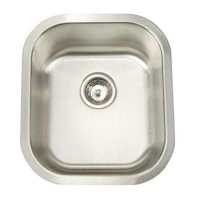 "Premium Series 16.5"" x 18.5"" Undermount Single Bowl Bar Sink Product Photo"