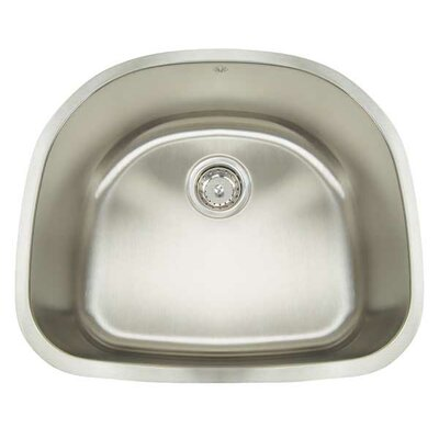 "Manhattan 23.5"" x 21"" Single Bowl Undermount Bar Sink Product Photo"