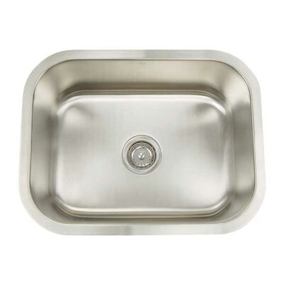"Manhattan 23.25"" x 18.25"" Rectangular Single Bowl Undermount Bar Sink Product Photo"