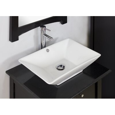 Above Counter Rectangle Vessel Bathroom Sink Product Photo