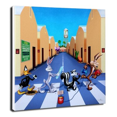 Chuck Jones 'Acme Road' by Daniel Killen Painting Print on Wrapped Canvas by Lord Mischief ...