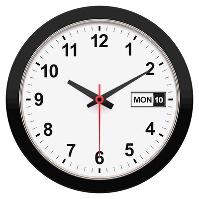 date and time 12 wall clock