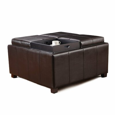 Square Storage Ottoman by AdecoTrading