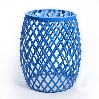 Home Garden Accent Wire Round Stool by AdecoTrading