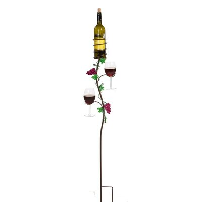 Ground Stake 1 Bottle Wine Rack by Picnic Plus by Spectrum