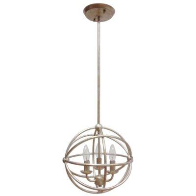 Industrial orb 3 light foyer pendant wayfair for Wayfair industrial lamp