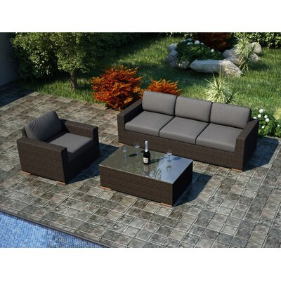 Arden 3 Piece Sofa Set with Cushions by Harmonia Living