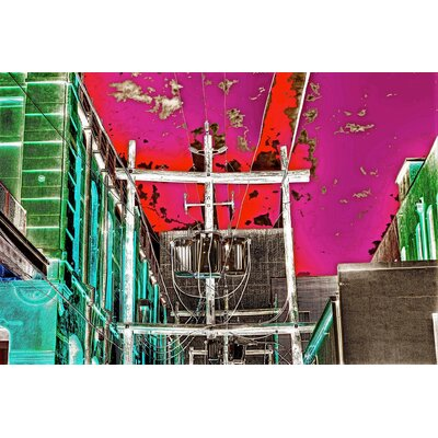 Limited Edition 'Neon Alley' by Alicia Boles Graphic Art Plaque by Zatista