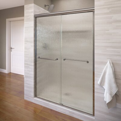 "Infinity 70"" x 47"" Frameless Bypass Sliding Shower Door Product Photo"