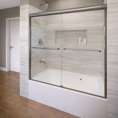 "Celesta 58.25"" x 60"" Frameless Bypass Sliding Tub Door Product Photo"