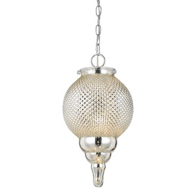 Teardrop 1 Light Globe Pendant by Cal Lighting