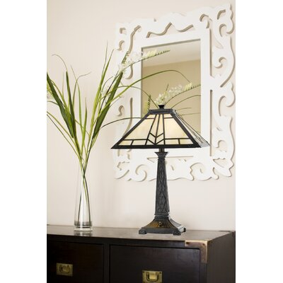"""Cal Lighting Mission 23"""" H Table Lamp with Empire Shade"""