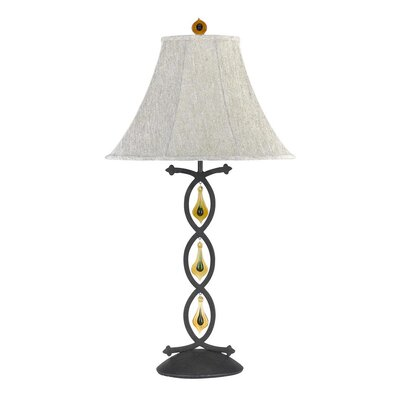 """Cal Lighting Marion 31.5"""" H Table Lamp with Bell Shade"""