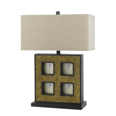 "Cal Lighting 25"" H Table Lamp with Rectangular Shade"