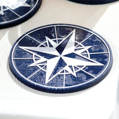 Northwind Nautical Drink Coaster by MB Coastal Designs