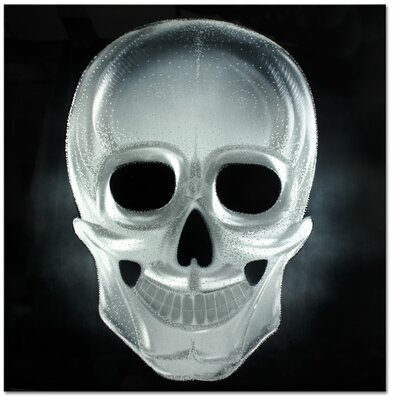 Neon Skull Metal Graphic Art in Silver by MetalArtscape