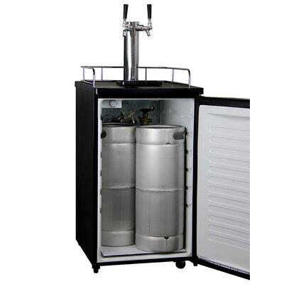 Dual Tap Freestanding Beer Dispenser Wayfair