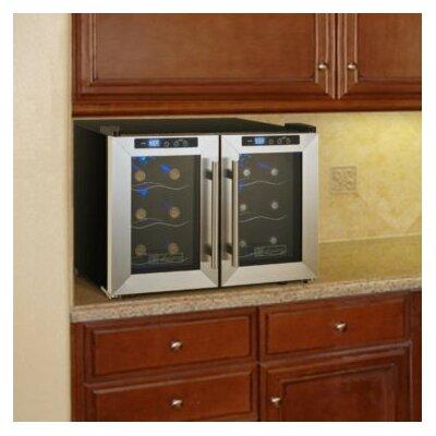 Cascina 12 Bottle Dual Zone Wine Refrigerator by Allavino