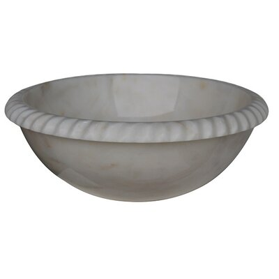 Rope Natural Stone Vessel Bathroom Sink by TashMart